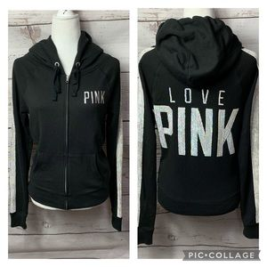 VS PINK Campus Bling Sequin Zip Hoodie